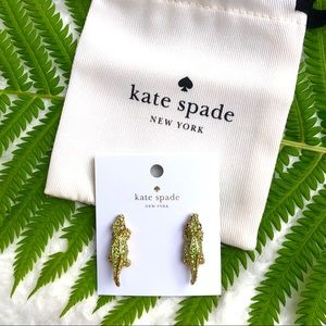 NWT Kate ♠️ Spade 🐊 Swamped Alligator Earrings